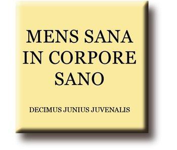 Kühlschrankmagnet, Decimus, Herren Sana in Corpore Sano
