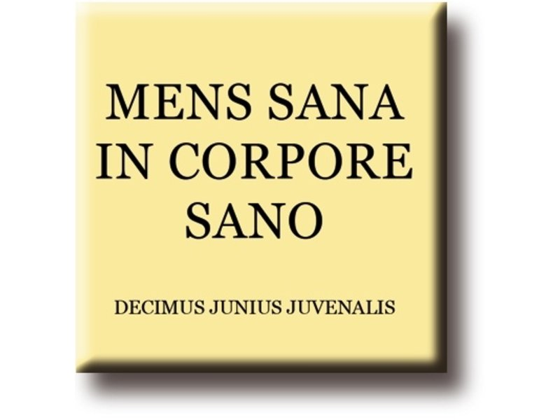 Fridge Magnet, Decimus, Mens Sana in Corpore Sano