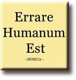Kühlschrankmagnet, Seneca, Errare Humanium Est