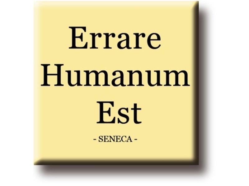 Fridge magnet, Seneca, Errare Humanium Est