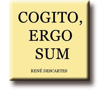 Imán de nevera, René Descartes, Cogito, Ergo, Sum