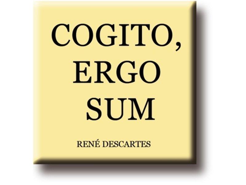 Imán de nevera, René Descartes, Cogito, Ergo Sum