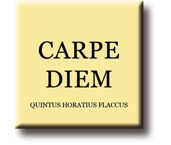 Aimant de réfrigérateur, Quintus Horatius Flaccus, Carpe Diem