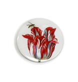 Espejo de bolsillo grande, Ø 80 mm, tulipán con insecto, marrel