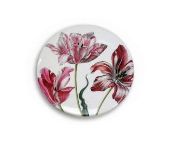 Espejo de bolsillo, Ø 80 mm, tres tulipanes, Merian