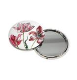 Spiegel, Ø 80 mm, drei Tulpen, Merian