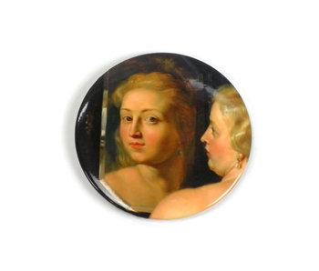 Espejo de bolsillo grande, Ø 80 mm Venus delante del espejo, Rubens