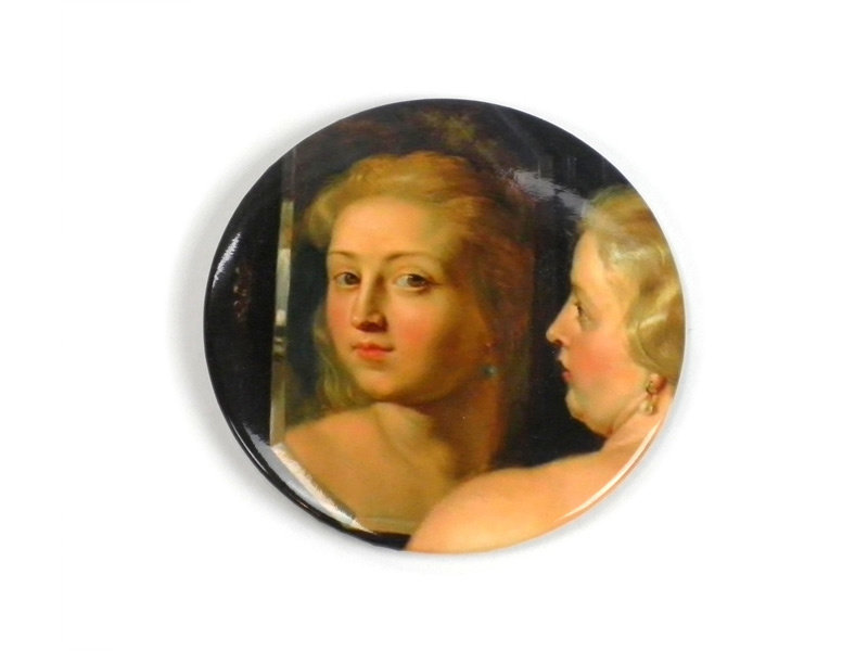 Taschenspiegel groß, Ø 80 mm Venus vor dem Spiegel, Rubens