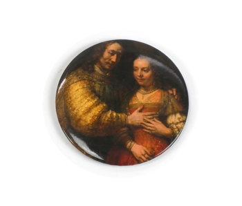 Spiegeltje, groot, Ø 80 mm,  Het Joodse Bruidje, Rembrandt