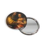 Taschenspiegel groß, Ø 80 mm, Die jüdische Braut, Rembrandt