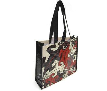 Shopper  bag , Escher, Smaller & smaller Lizzards