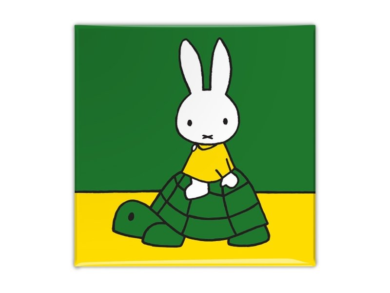 Fridge magnet, Miffy on a turtle