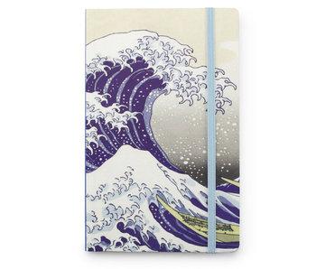 Cuaderno de tapa blanda A6, La gran ola de Kanagawa, Hokusai