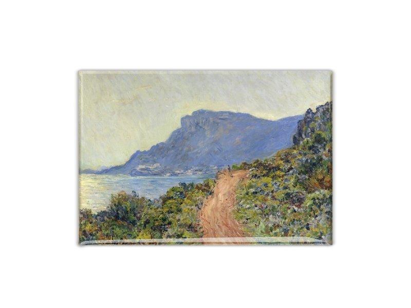 Koelkastmagneet, La Corniche bij Monaco, Monet