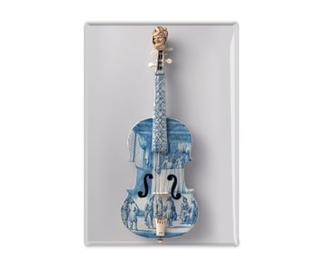 Fridge magnet, Delft Blue violin