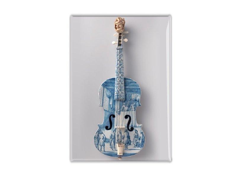 Koelkastmagneet,  Delfts Blauwe viool