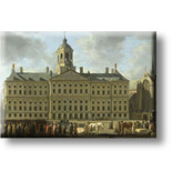 Fridge magnet, The City Hall on Dam Square, Berckheyde