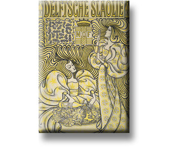 Fridge magnet, Delft Salad Oil, Toorop