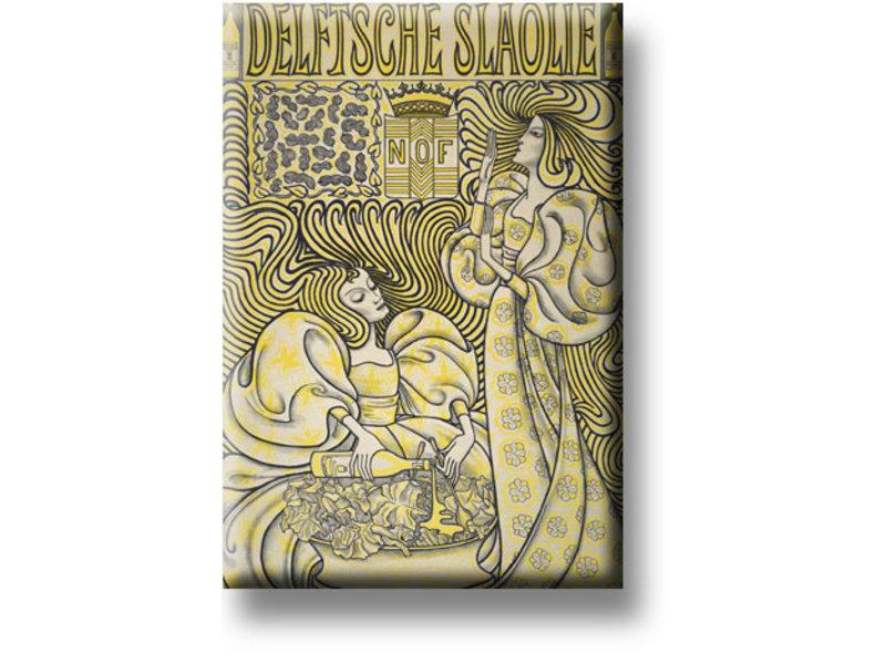 Imán de nevera, aceite de ensalada de Delft, Toorop