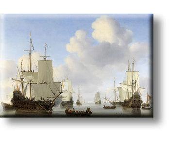Imán de nevera, barcos holandeses, Van de Velde