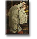 Kühlschrankmagnet, Mädchen in Weiß Kimono, Breitner