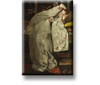 Aimant pour réfrigérateur, fille en kimono blanc, Breitner