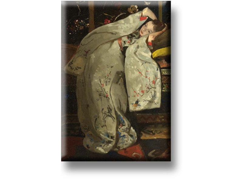 Koelkastmagneet, Meisje in witte kimono, Breitner