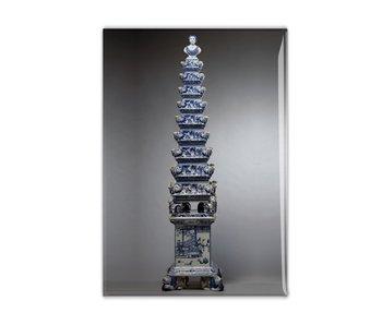 Magnet pour réfrigérateur, vase Tulipe bleu Delft