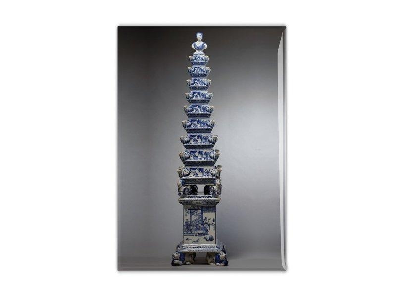 Magnet pour frigo, vase Tulipe bleu Delft