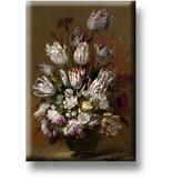 Imán de nevera, Bodegón con flores, Bollongier