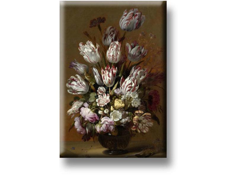 Aimant pour réfrigérateur, Nature morte aux fleurs, Bollongier