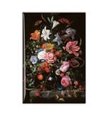 Aimant frigo, Nature morte aux fleurs dans un vase en verre, De Heem