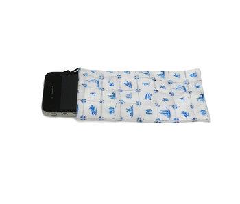 Phone Pocket, Delft Blue Tiles