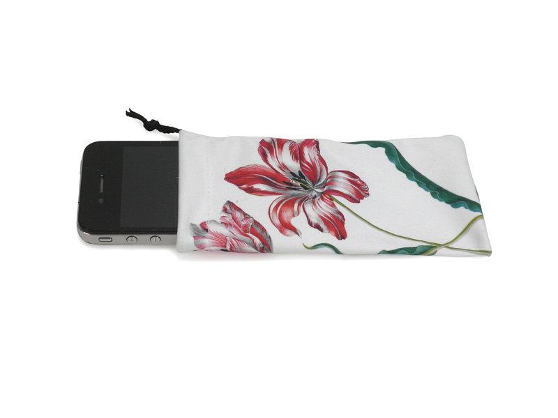 Microfiber Phone Pocket, Three Tulips, Merian