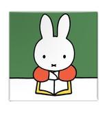 Fridge magnet, Miffy reads a book