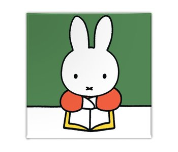 Aimant de réfrigérateur, Miffy lit un livre
