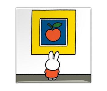 Kühlschrankmagnet, Miffy im Museum