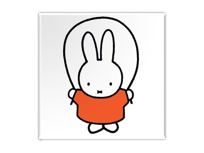 Kühlschrankmagnet, Miffy springt Seil