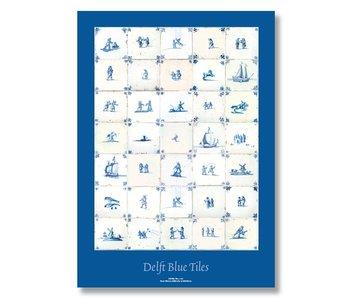 Poster, 50 x 70 cm, Delft blue tiles