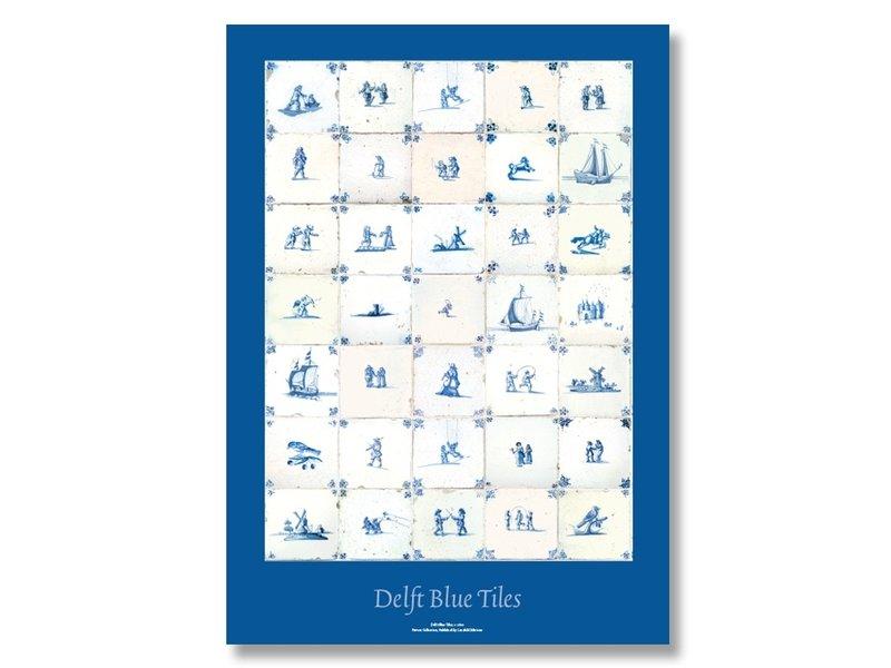 Póster, 50x70 cm, Azulejos azules de Delft, c 1600