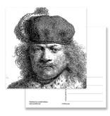 Carte postale, 1634 Autoportrait en costume riche, Rembrandt