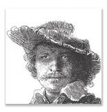 Ansichtkaart, Zelfportret met Saskia, Rembrandt