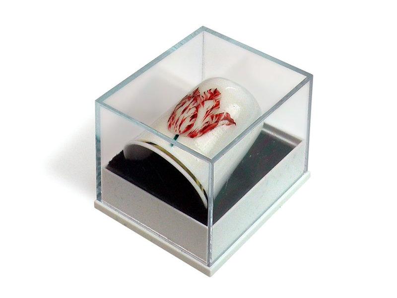 Vingerhoedje, Rood met wit tulp