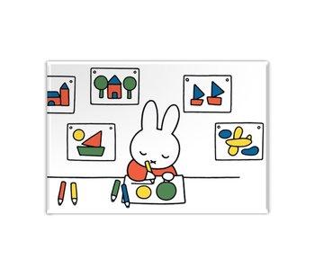 Kühlschrankmagnet, Miffy zeichnet