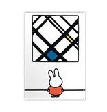 Aimant de réfrigérateur, Miffy avec Mondrian