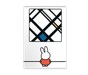 Fridge magnet, Miffy with Mondrian