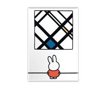 Magnet de réfrigérateur, Miffy avec Mondrian