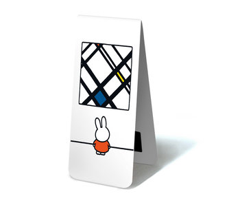 Marcapaginas magnético, Miffy con Mondrian