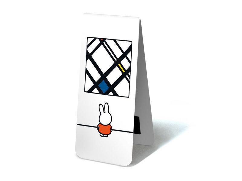Marque-page magnétique, Miffy avec Mondrian