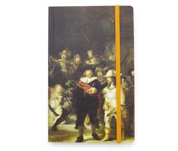 Cuaderno de tapa blanda A6, La guardia nocturna, Rembrandt